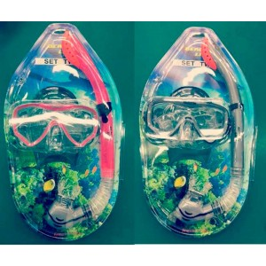 Set buceo gafas y tubo adulto twin