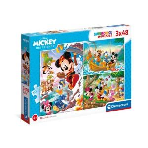 Puzzle 3x48 pzas. mickey y amigos