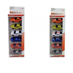 Pack 6 vehiculos metal 1:60 surtido