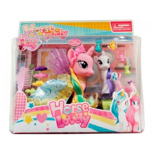 Pack 2 ponys horse lovely c/accesor