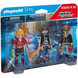 Set figuras ladrones playmobil